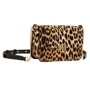 NWT TORY BURCH Chelsea leopard crossbody